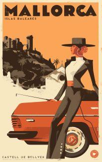 Mallorca Vintage Travel Poster 2