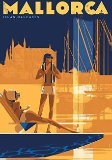 Mallorca Vintage Travel Poster