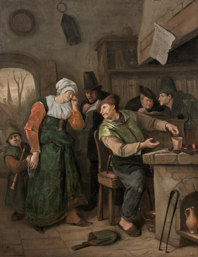 steen the alchemist and the crying wife