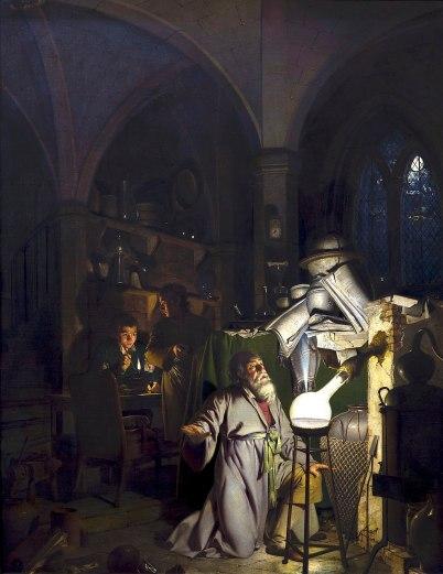 the alchemist discovering phosporus