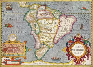 latin america old map